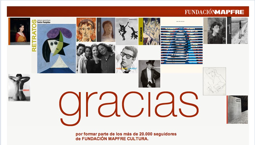 """Gracias"", application ""Acción 20.000 fans"" de la FM en Facebook."