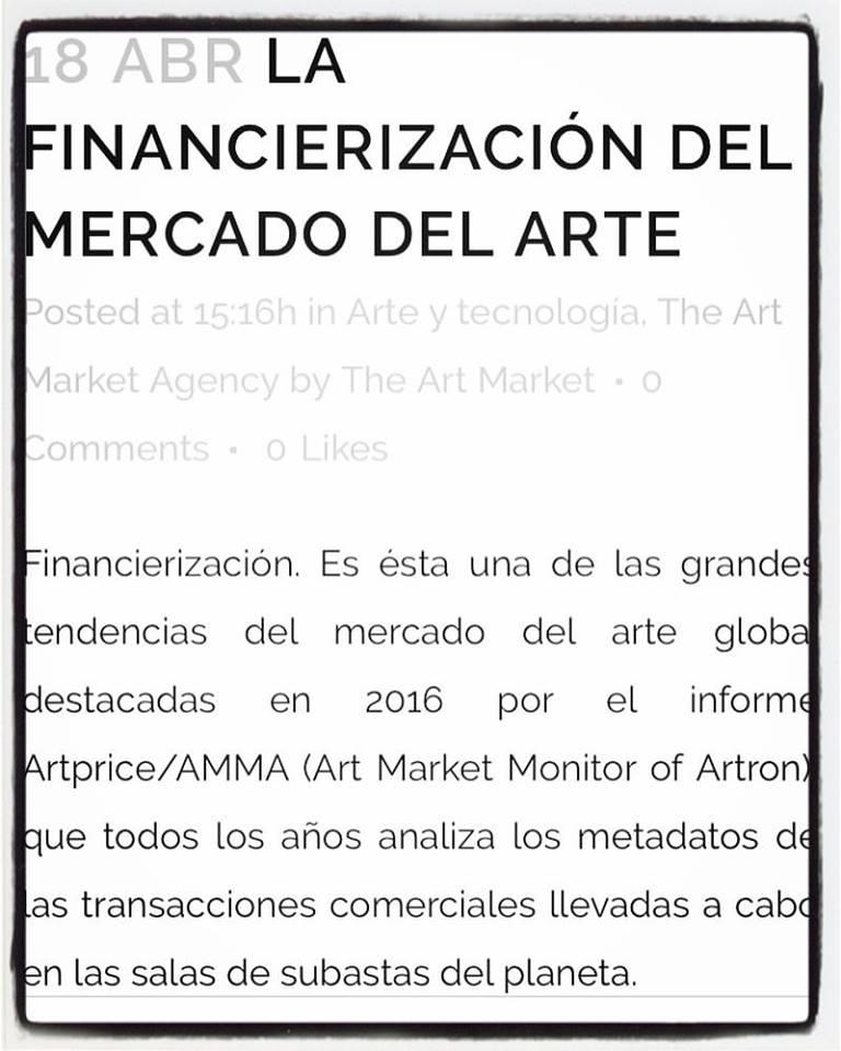 """Nicola Mariani, """"La financierización del mercado del arte""""."""