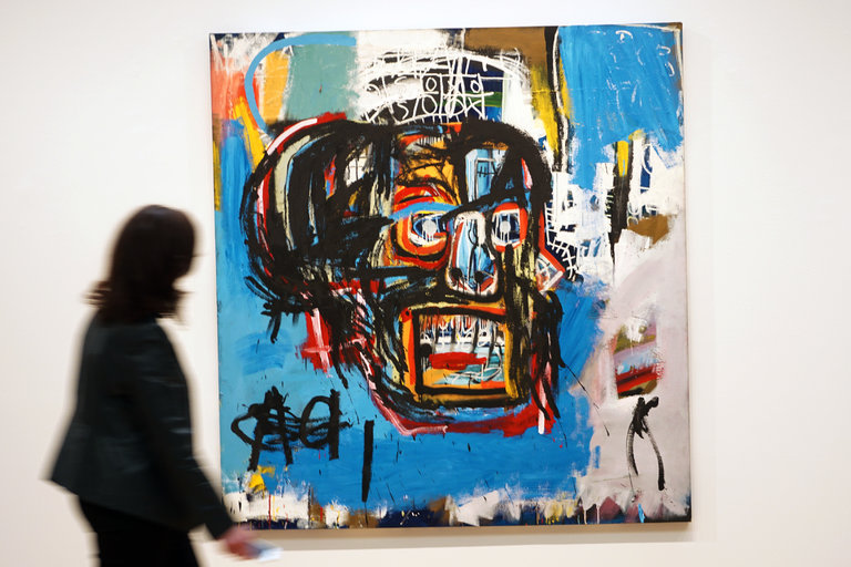 """Untitled,"" a Basquiat painting from 1982, sold for $110.5 million at Sotheby's auction in May 2017. Credit: 2017, The Estate of Jean-Michel Basquiat / ADAGP, Paris / ARS, via Sotheby's."